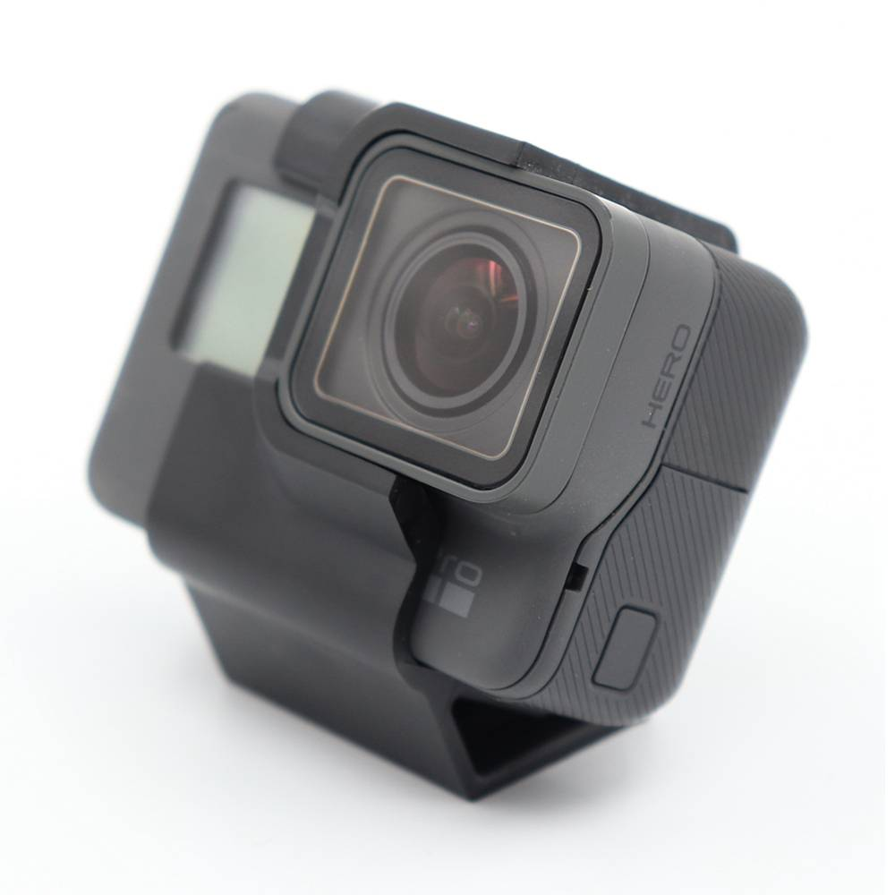 Reptile TPU Action Sport Mount Camera 30 Degree Inclined FPV Camera Holder Pour Gopro 5 / 6 / 7 FPV Racing Drone - Noir