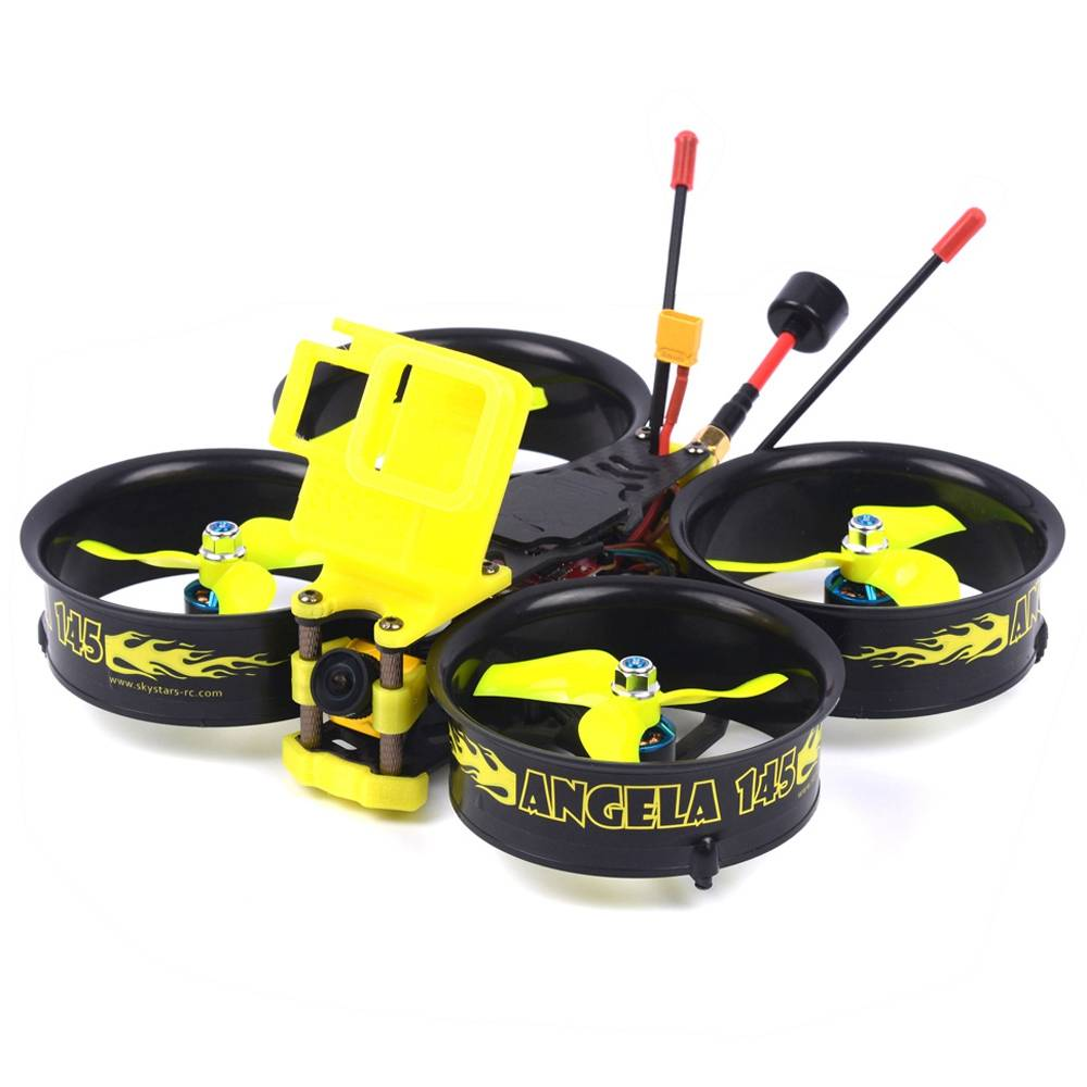 Skystars Angela 145 145mm 3 Pollici 3-4S FPV Whoop Racing Drone con MINI F4 35A 500mW VTX Caddx Ratel Cam BNF - Frsky XM + Ricevitore