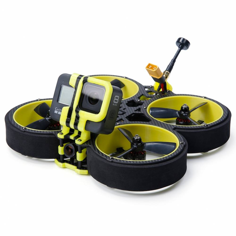 IFLIGHT BumbleBee CineWhoop 142mm 3inch FPV แข่งจมูกด้วย F4 40A 500A XNUMXmW VTX Caddx Ratel กล้อง BNF - Frsky R-XSR รับ