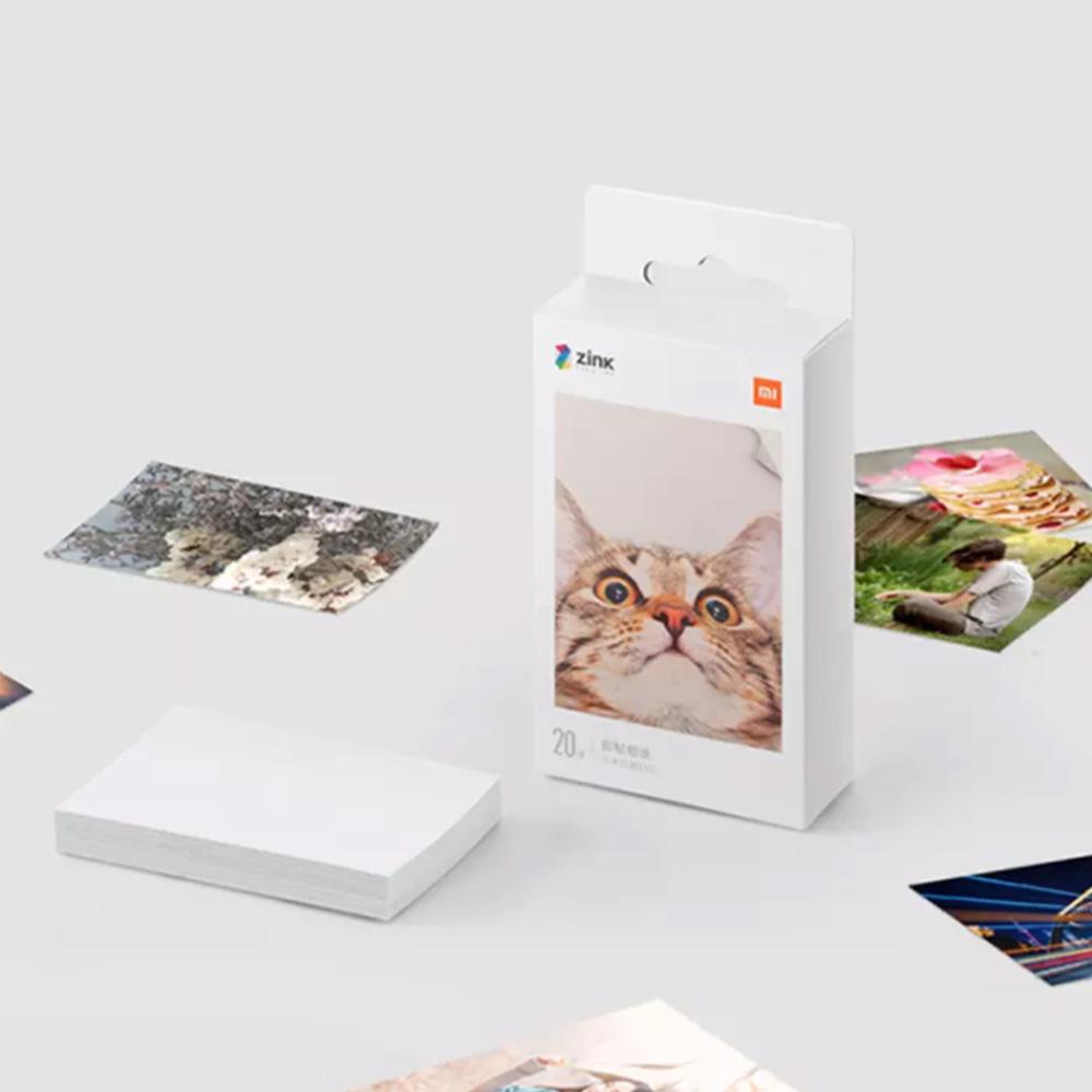 20 יחידות 3 אינץ Xiaomi מדפסת נייר מדפסת נייר למדפסת צילום Xiaomi Pocket