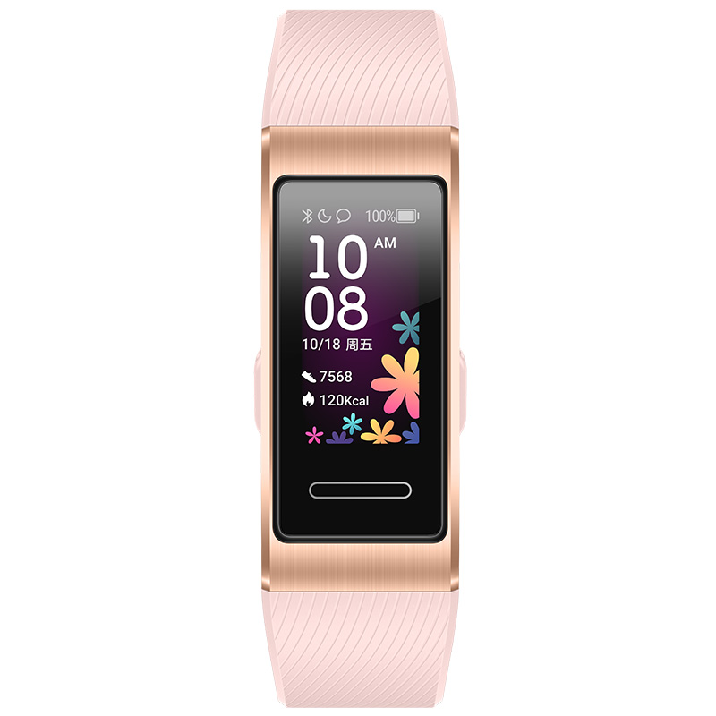 Huawei Band 4 Pro Smart Bracelet 0.95 Inch AMOLED Screen 5ATM Waterproof Built-in GPS Heart Rate Sleep Monitor - Pink