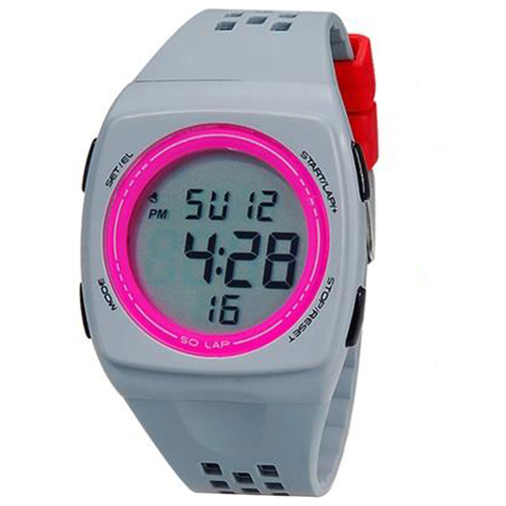 SHORS 798 Unisex LED Digital Watch с силиконовым ремешком M. - Серый