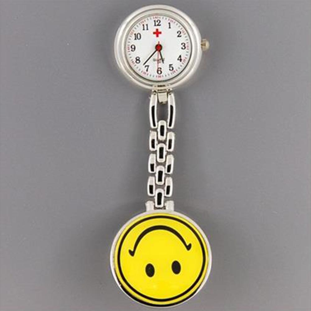 Χαριτωμένο κίτρινο χαμόγελο χαμόγελο προσώπου στυλ χαλαζία νοσοκόμα με κλιπ-ζελέ