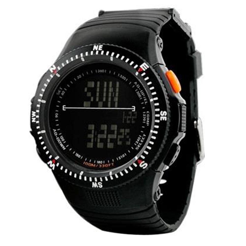 YW0932B Skmei 0989 5ATM Orologio sportivo digitale resistente all'acqua con cinturino in morbida plastica - Nero