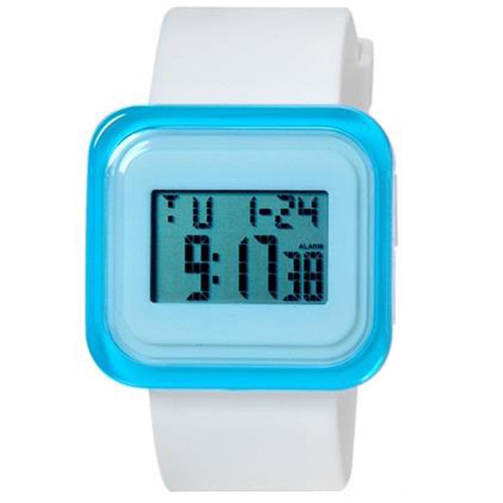 SHORS SH-615 Unisex Rectangular LED Цифровые водостойкие часы с будильником / подсветкой M. - White