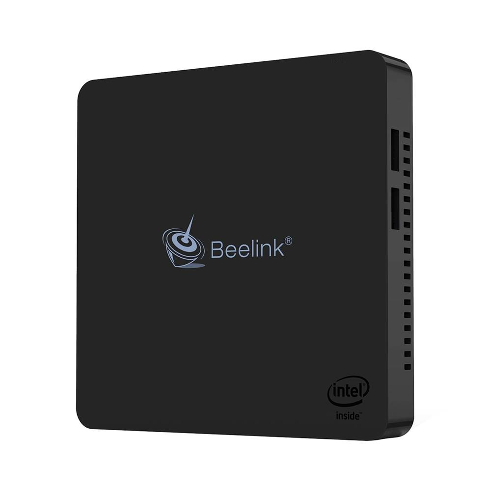 Beelink MII-V Intel Apollo Lake N3350 Windows 10 4K Mini PC SATA SSD 4 GB RAM 64 GB eMMC HDMI + VGA 2.4G + 5G WiFi Bluetooth Gigabit LAN USB 3.0 - Czarny