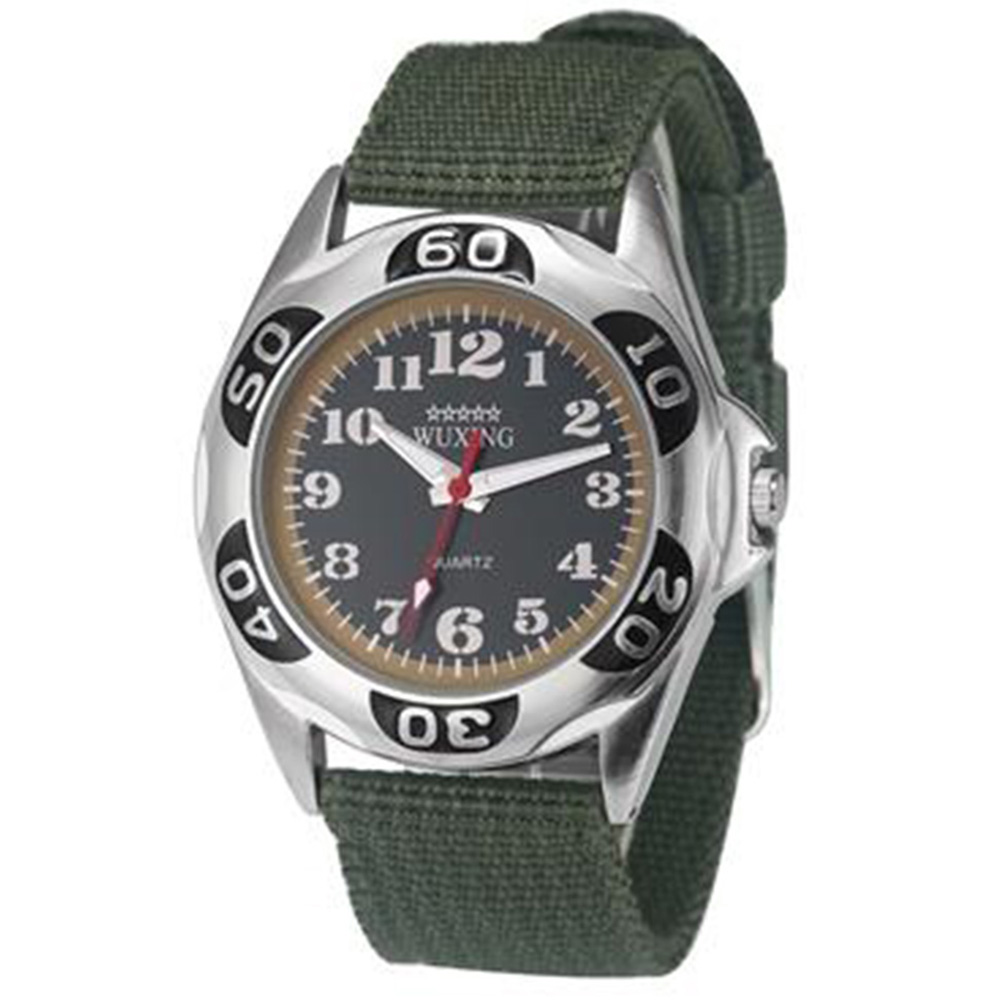 שעונים קוורץ התנועה Watch New ניילון חגורת חיים Waterproof - ירוק