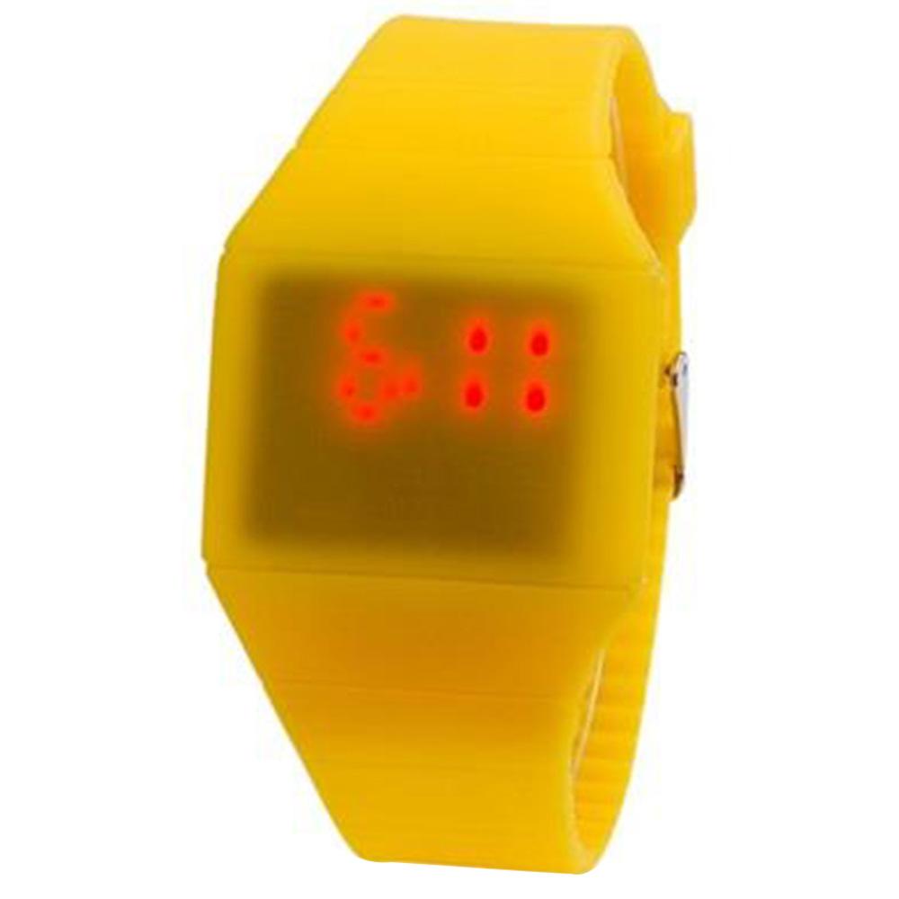G1206 LED ووتش مع شاشة تعمل باللمس البلاستيك فائقة النحافة - الأصفر