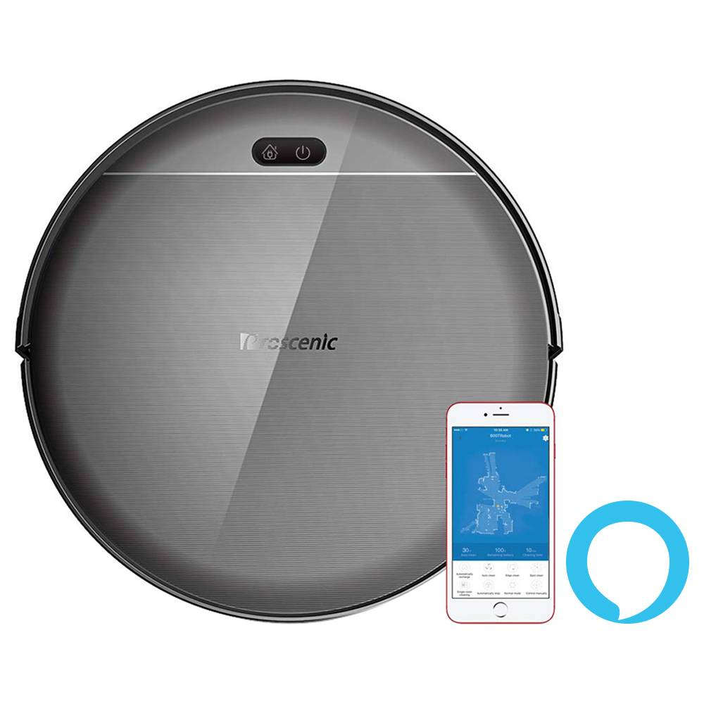 Proscenic 800T Robot Vacuum Cleaner 2000Pa Strong Suction Alexa and App Control 2 In 1 Sweeping Mopping Function - Black