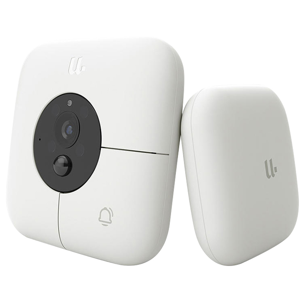 YOUDIAN R1 Smart Video DoorBell With Receiver 120 Degree Wide Angle 1080P IR Night Vision From Xiaomi Youpin - White