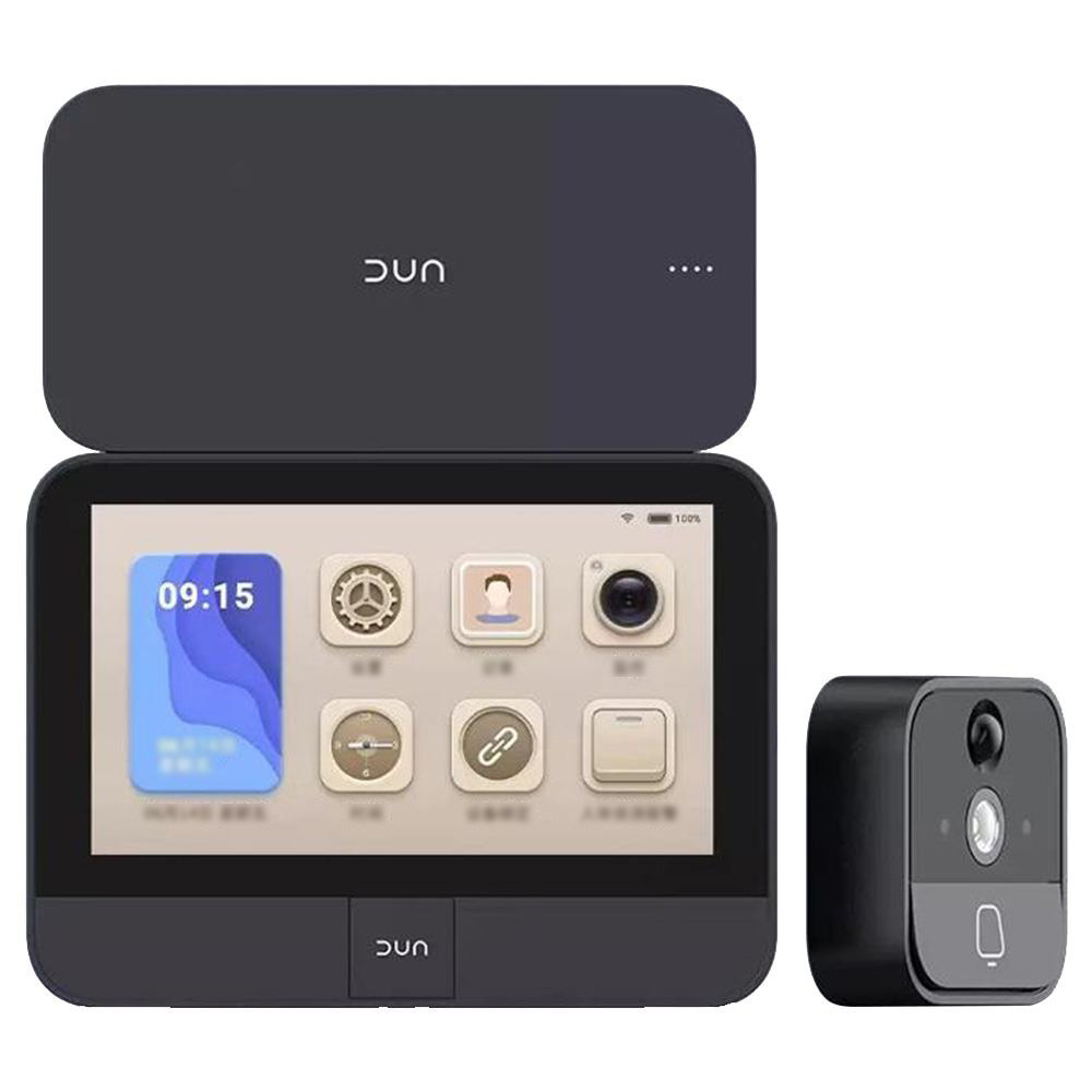 DUN Smart Peephole 5.Inch IPS Touch Screen Night Vision Video Doorbell Work With Mijia App Endurance Version From Xiaomi Youpin - Deep Grey