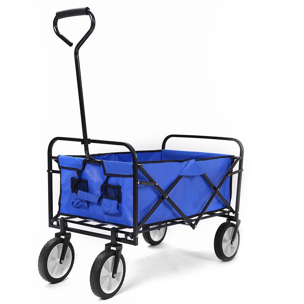 Carrello multiuso pieghevole Merax da 150 kg con carro in tessuto, colore: blu