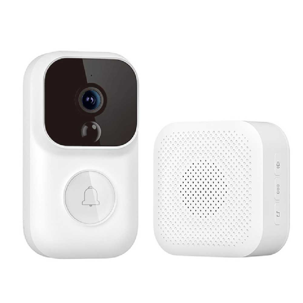 Dingling S Enhanced Version Smart Video Doorbell With Reciever 1080P IR Night Vision AI Face Identification Motion Detection SMS Push Intercom De Xiaomi Youpin - White