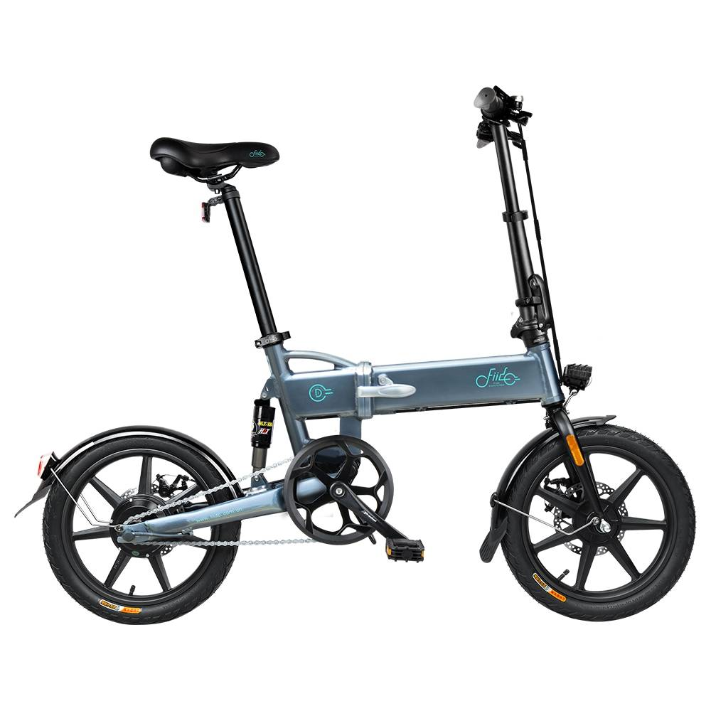 FIIDO D2 Faltbares elektrisches Moped City Bike Commuter Bike Drei Fahrmodi 16 Zoll Reifen 250W Motor 25km / h 7.8Ah Lithium Batterie 20-35KM Reichweite - Dunkelgrau