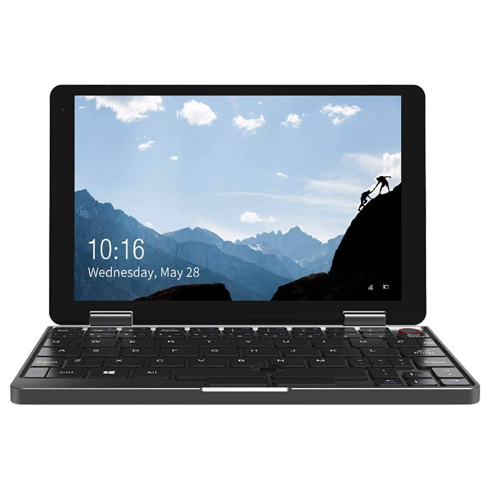 Chuwi Minibook Laptop Intel Core M3-8100Y 8 pulgadas 1920 * 1200 Pantalla Teclado retroiluminado Windows 10 8GB RAM 256GB SSD - Negro