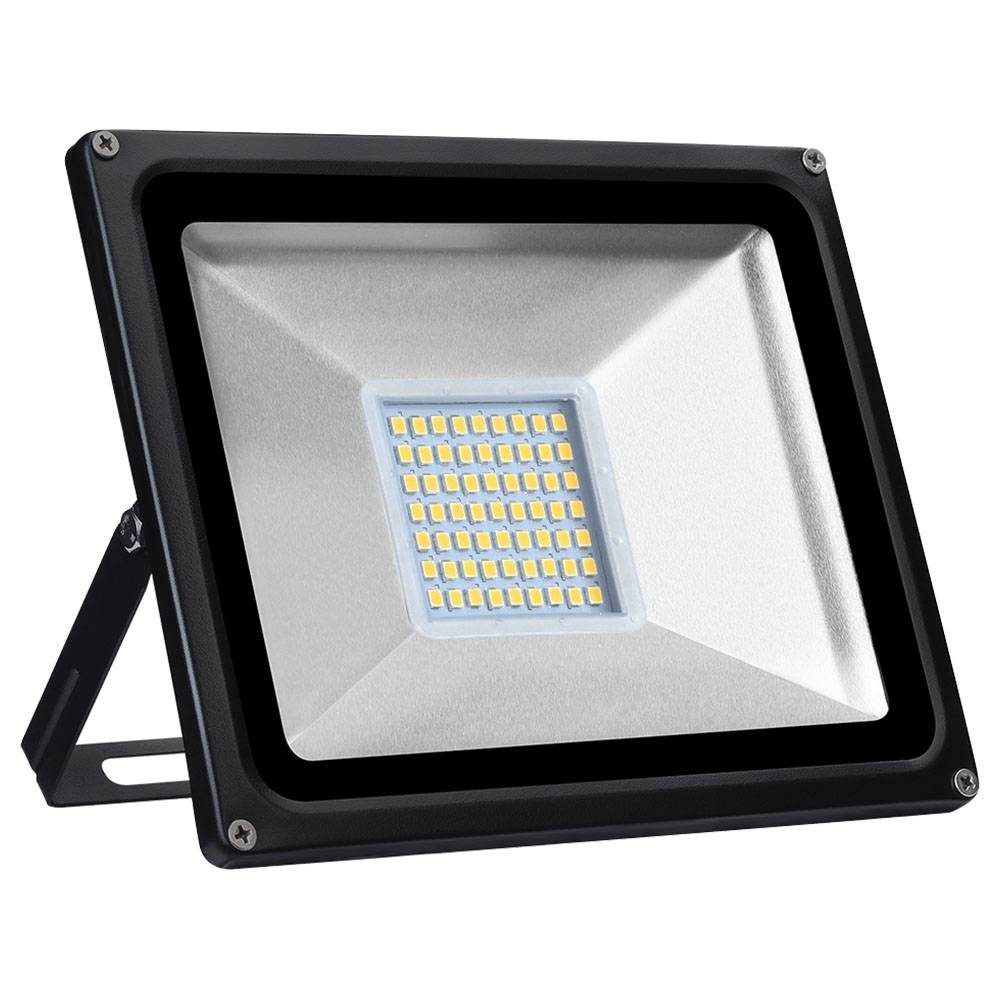 Tycolit 30W 220V LED Flood Light 80lm/W 3000K IP65 Waterproof For Yard Garden Playground Warm White Light - White