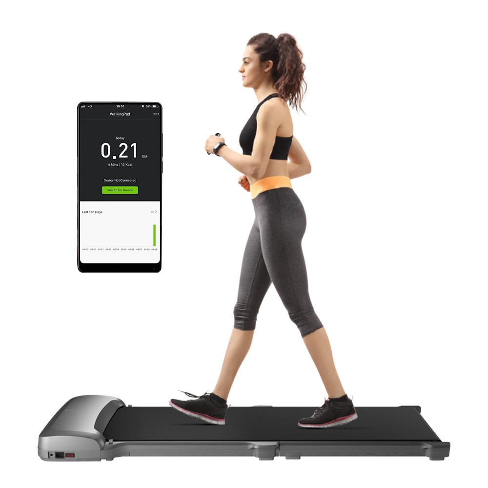 WalkingPad C1 آلة المشي للياقة البدنية طوي الكهربائية معدات التحكم في التطبيقات من Xiaomi Youpin - رمادي