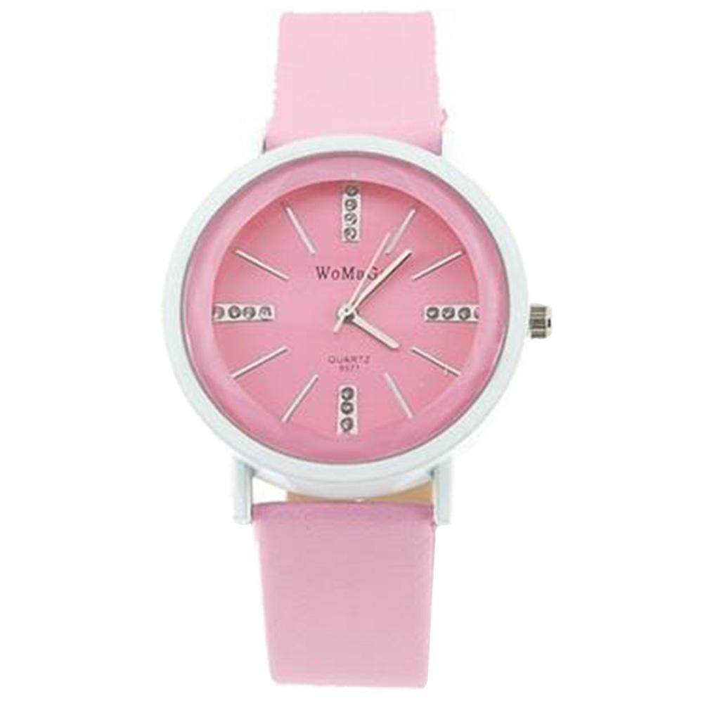 9571 Модные Кристалл Кварцевые наручные часы - Pink