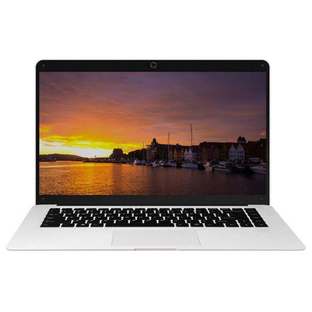Binai G14 Plus Laptop Intel Atom x5-E8000 14.1 Inch 1366 x 768 Windows 10 4GB RAM 64GB eMMC 128G SSD - Silver