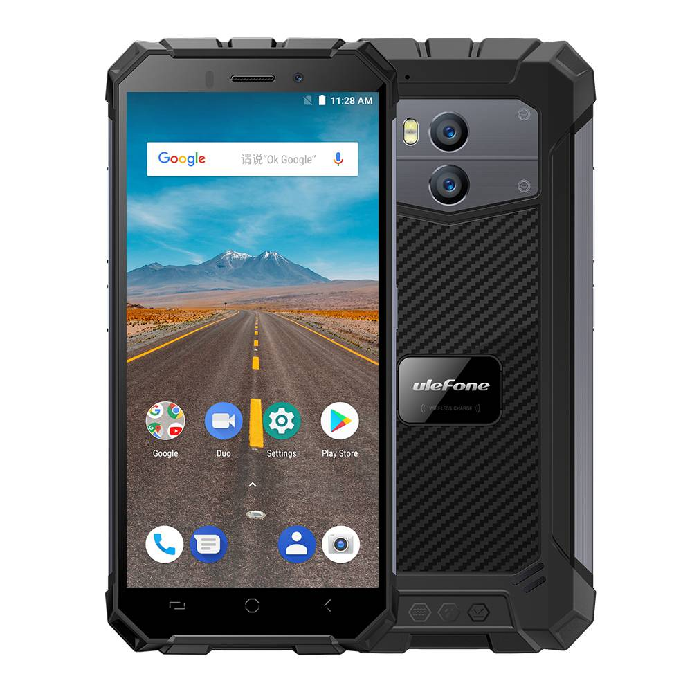 Ulefone Armor X 5.5 Inch Waterproof IP68 4G Smartphone MT6739 2GB 16GB 13.0MP+5.0MP Dual Rear Cameras Android 8.1 NFC Face ID Wireless Charge - Gray