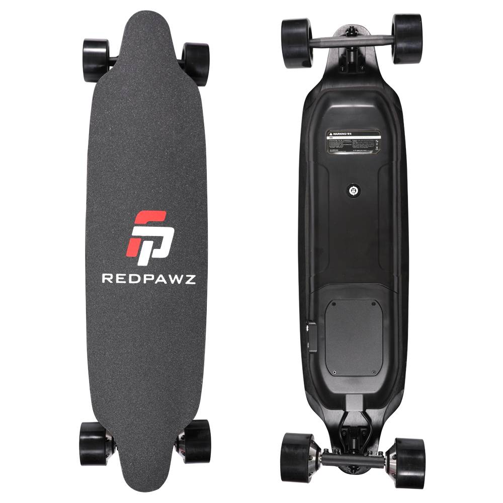 REDPAWZ RDZ-07 Electric Skateboard 300W x2 Dual Motors 6600mAh Battery Max Speed 40km/h With Remote Control - Black