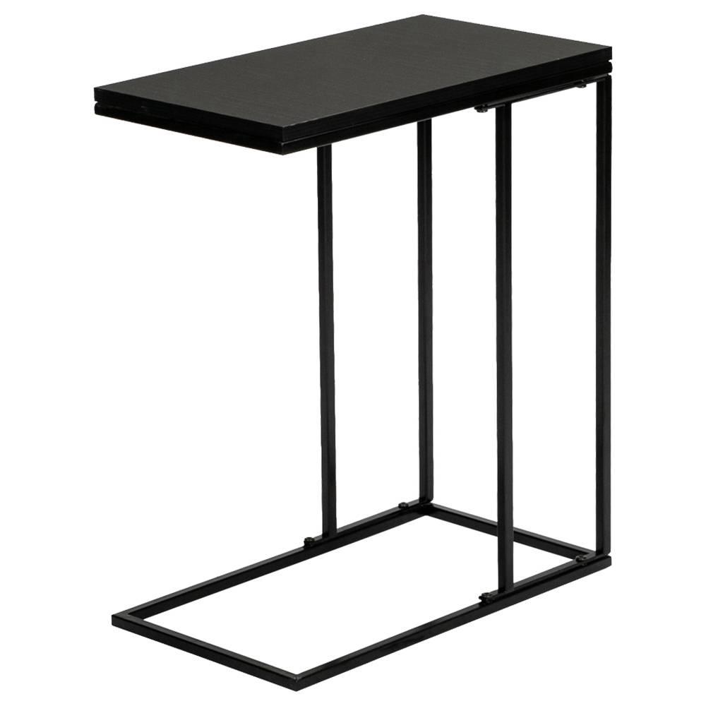 Artisasset Side End Table Single Layer Metal Frame For Living Room - Black