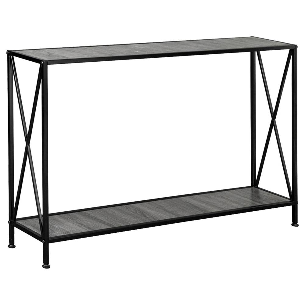 Artisasset 2-Tier Console Table For Entryway Hallway Living Room - Black