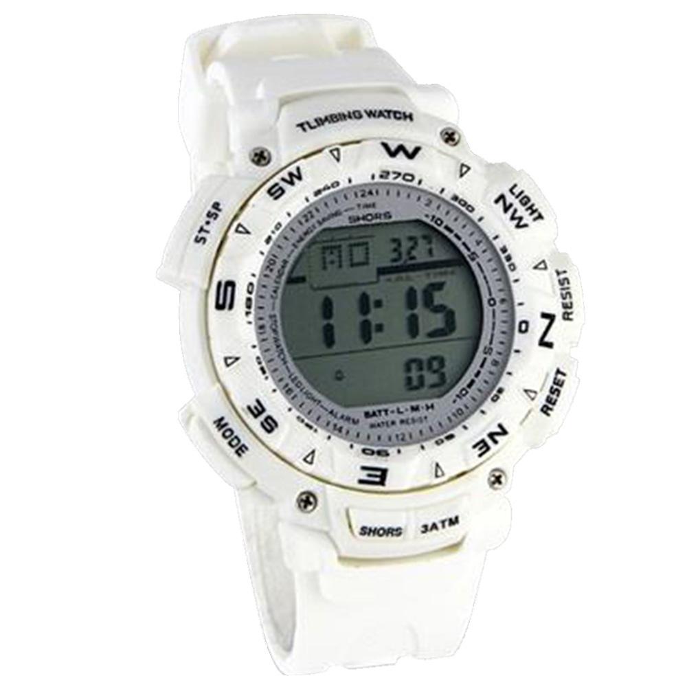 Стильные унисекс цифровые часы с белым светодиодом - белый