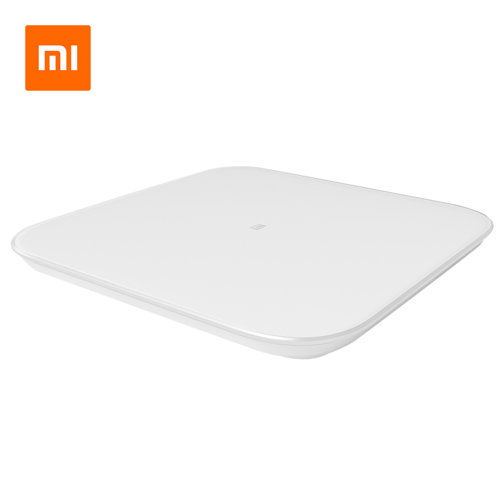 Xiaomi Smart Body Scale Scale 2 Bluetooth 5.0 APP Control LED Display Fitness Yoga Tools Scale Global Version-ホワイト