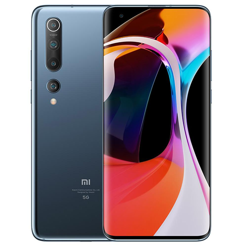 Xiaomi Mi 10 CN Version 5G Smartphone 6.67 Inch Screen Snapdragon 865 12GB RAM 256GB ROM Quad Rear Camera 4780mAh Large Battery Android 10.0 WiFi 6 Dual SIM - Black