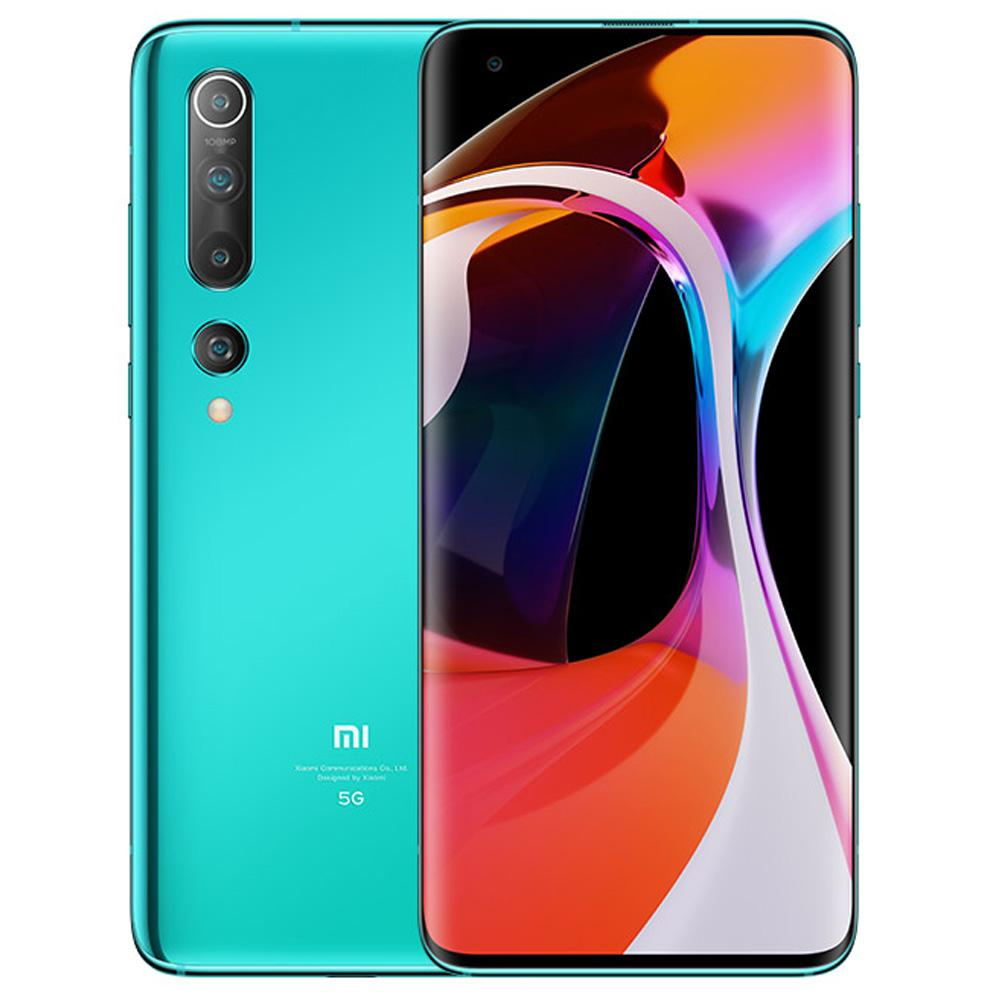 Xiaomi Mi 10 CN Version 5G Smartphone 6.67 Inch Screen Snapdragon 865 12GB RAM 256GB ROM Quad Rear Camera 4780mAh Large Battery Android 10.0 WiFi 6 Dual SIM- Blue