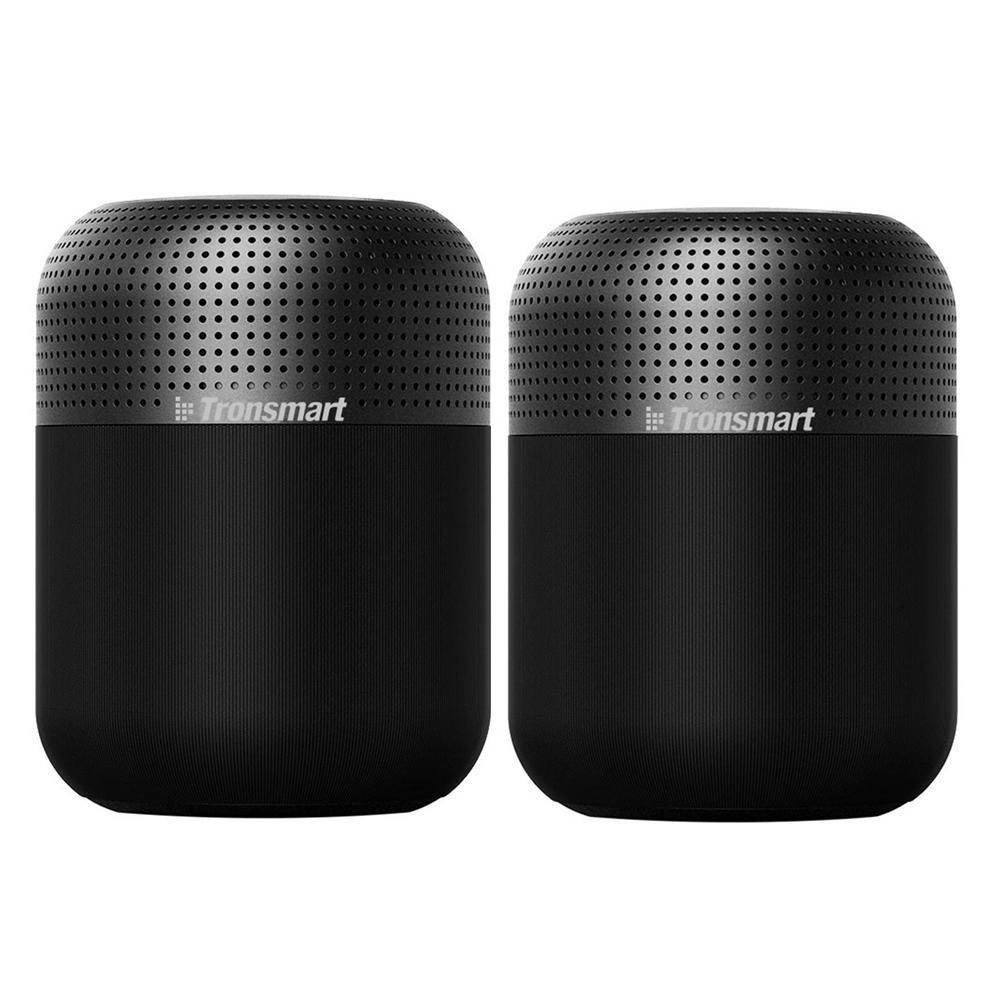 [2 packs] Tronsmart Element T6 Max 60 W Bluetooth 5.0 NFC-luidspreker SoundPulse ™ 20 uur speeltijd Siri Google Assistent Cortana USB-C Snel opladen