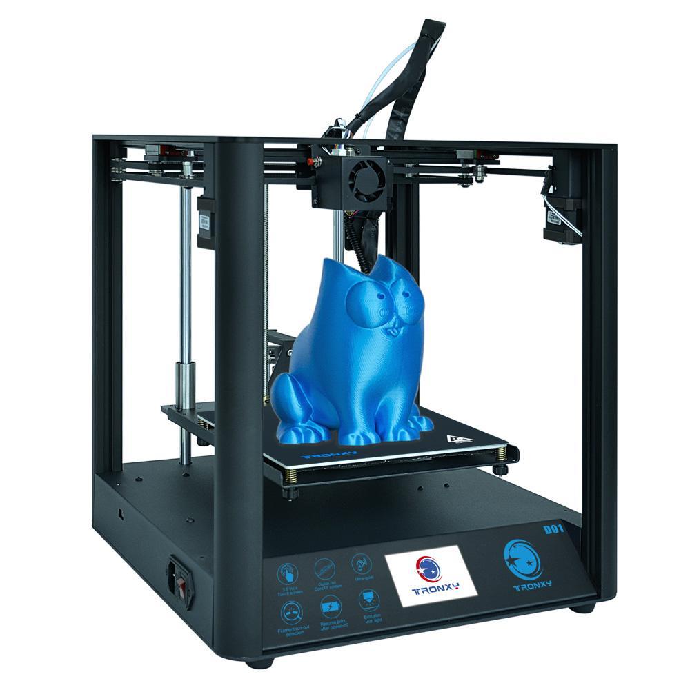 TRONXY D01 Industriële lineaire gids 3D-printer Afdrukformaat 2220 * 220 * 220 mm Titan Extruder Snelle montage Hervatten afdrukken Ultrastille modus - Zwart