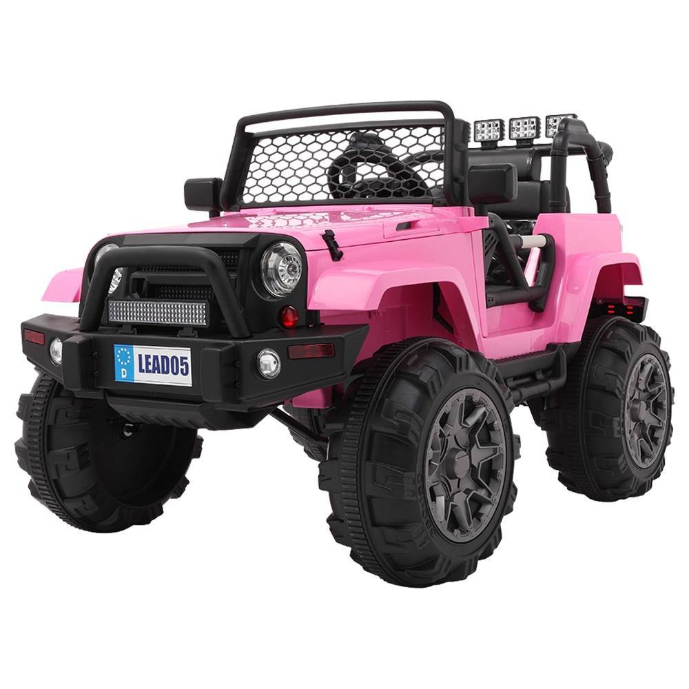 LEADZM LZ-905 Remodeled Jeep Dual Drive 45W * 2 Battery 12V7AH * 1 With 2.4G Remote Control - Pink