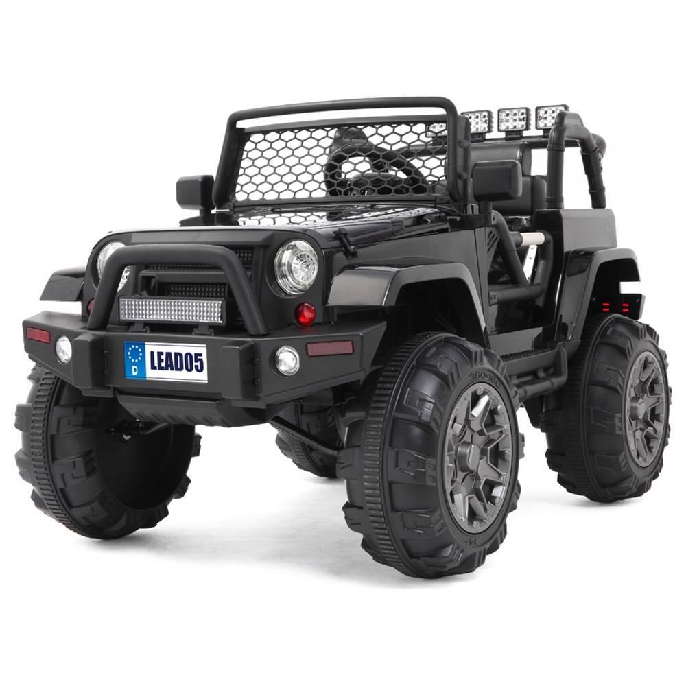 LEADZM LZ-905 átdolgozott Jeep kettős meghajtó 45W * 2 akkumulátor 12V7AH * 1 2.4 G távirányítóval - fekete