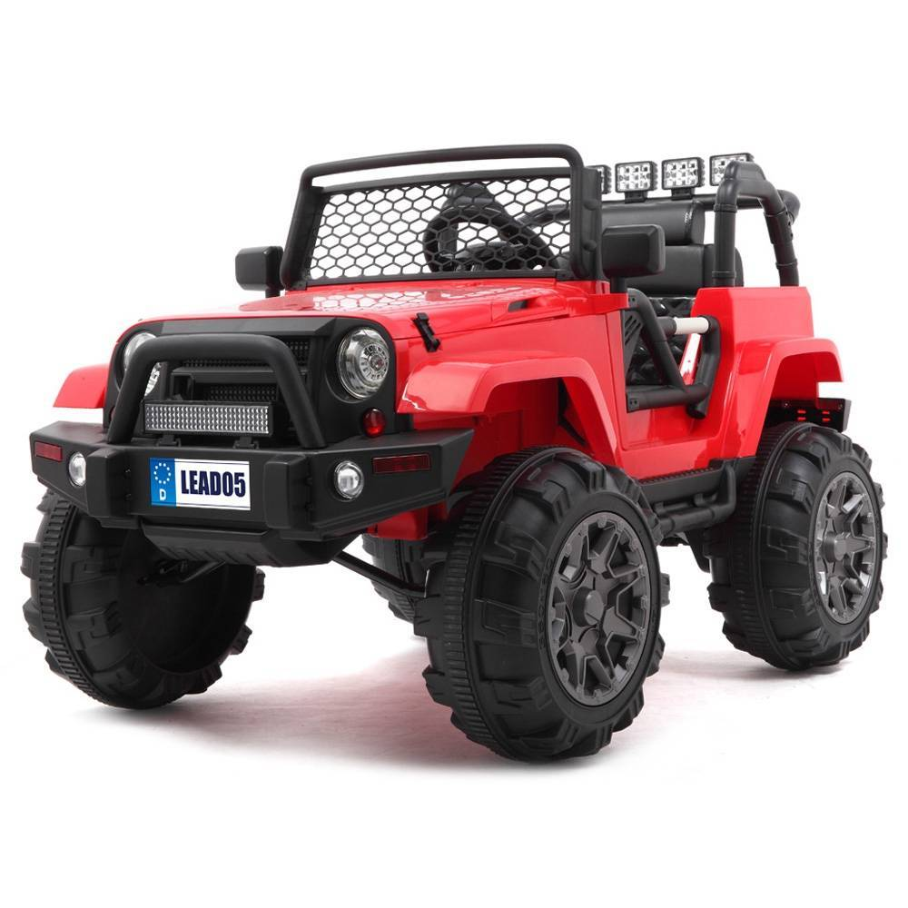 LEADZM LZ-905 Remodeled Jeep Dual Drive 45W * 2 Battery 12V7AH * 1 With 2.4G Remote Control - Red