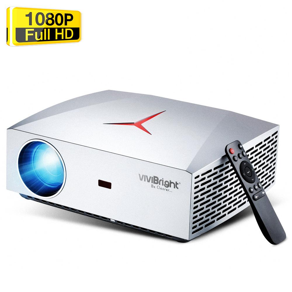 VIVIBRIGHT F40 Native 1080P White LED Light Projector 4200 Lumens