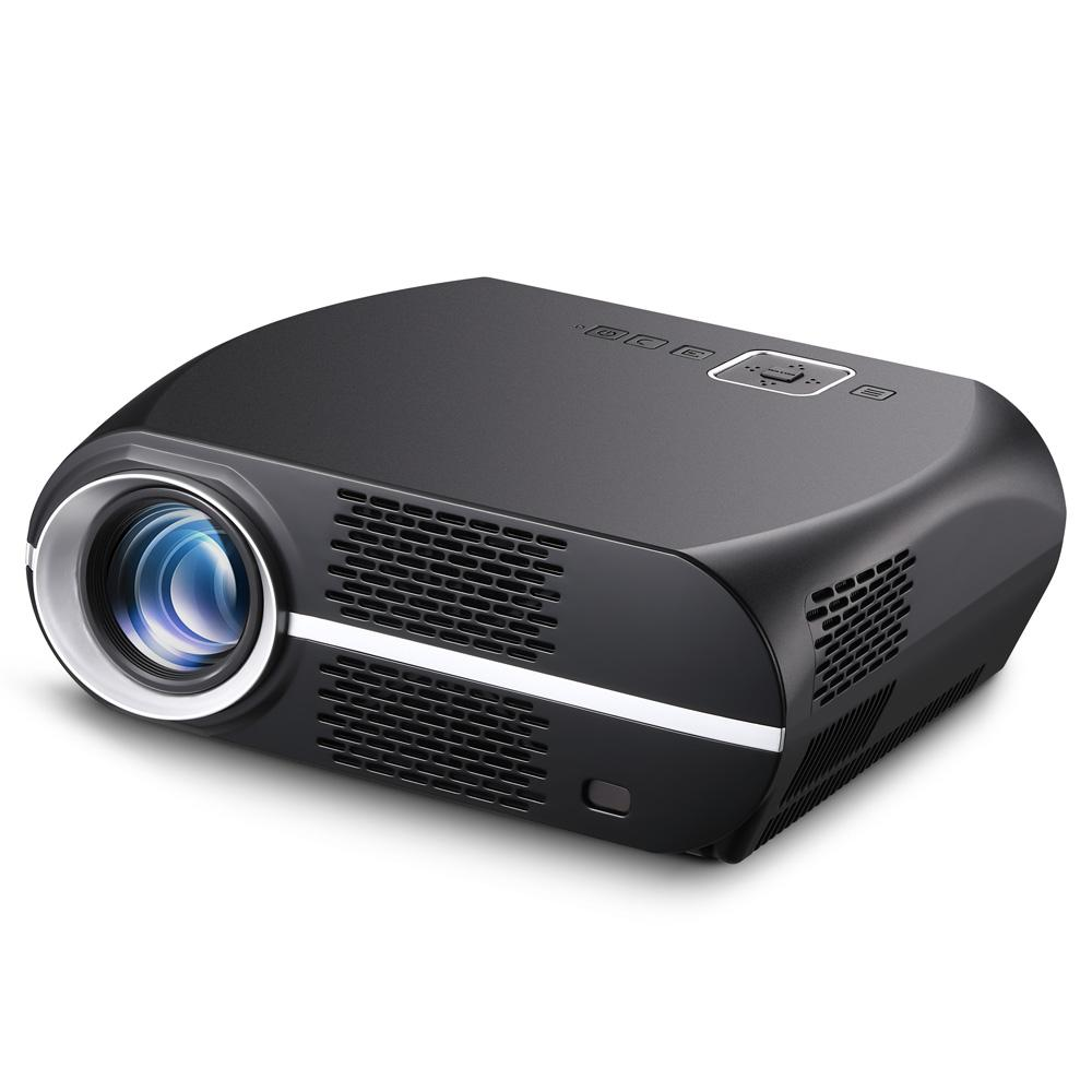 VIVIBRIGHT GP100 720P LED Projector 3500 Lumens 1080P Video Decode 3000:1 Contrast Ratio 180'' Image Size HiFi Stereo Speaker - Black