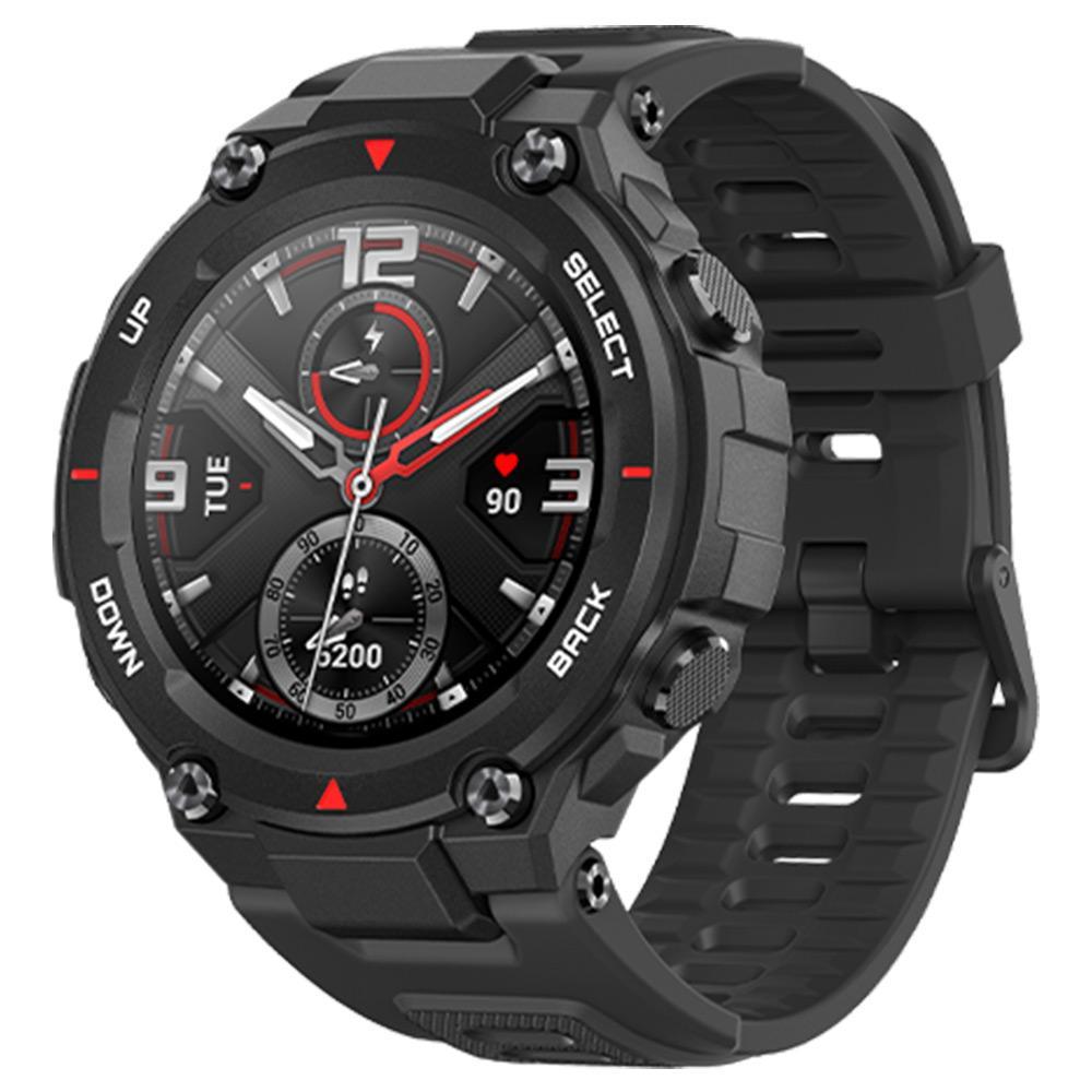 Amazfit T-rex Smartwatch 1.3 ιντσών στρογγυλό AMOLED οθόνη 14 αθλητικών τρόπων 5ATM ανθεκτικό στο νερό GPS τοποθέτηση - ροκ μαύρο