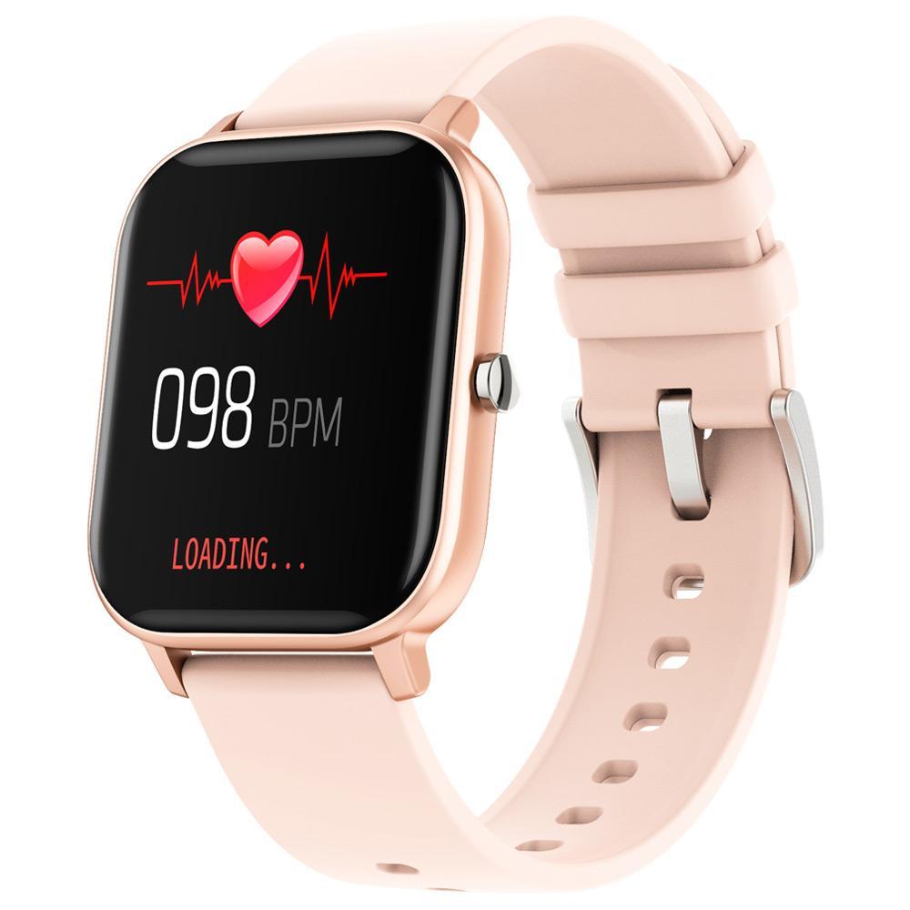ساعة ذكية من مايبيس P8 ، ساعة ذكية ، قياس ضغط الدم ، ومعدل ضربات القلب ، ومراقبة معدل الأكسجين ، ومراقبة النوم ، IPX1.4 ، مقاومة الماء (IX / Android - ذهبي)