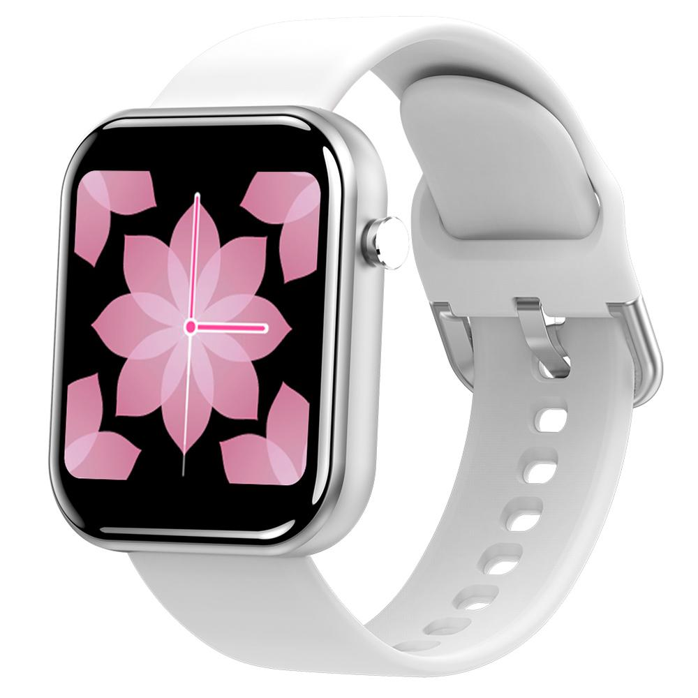 Makibes Z11 Smartwatch 1.54 Inch IPS Screen ضغط الدم رصد معدل ضربات القلب النوم المقتفي IP68 حزام سيليكون مقاوم للماء - أبيض