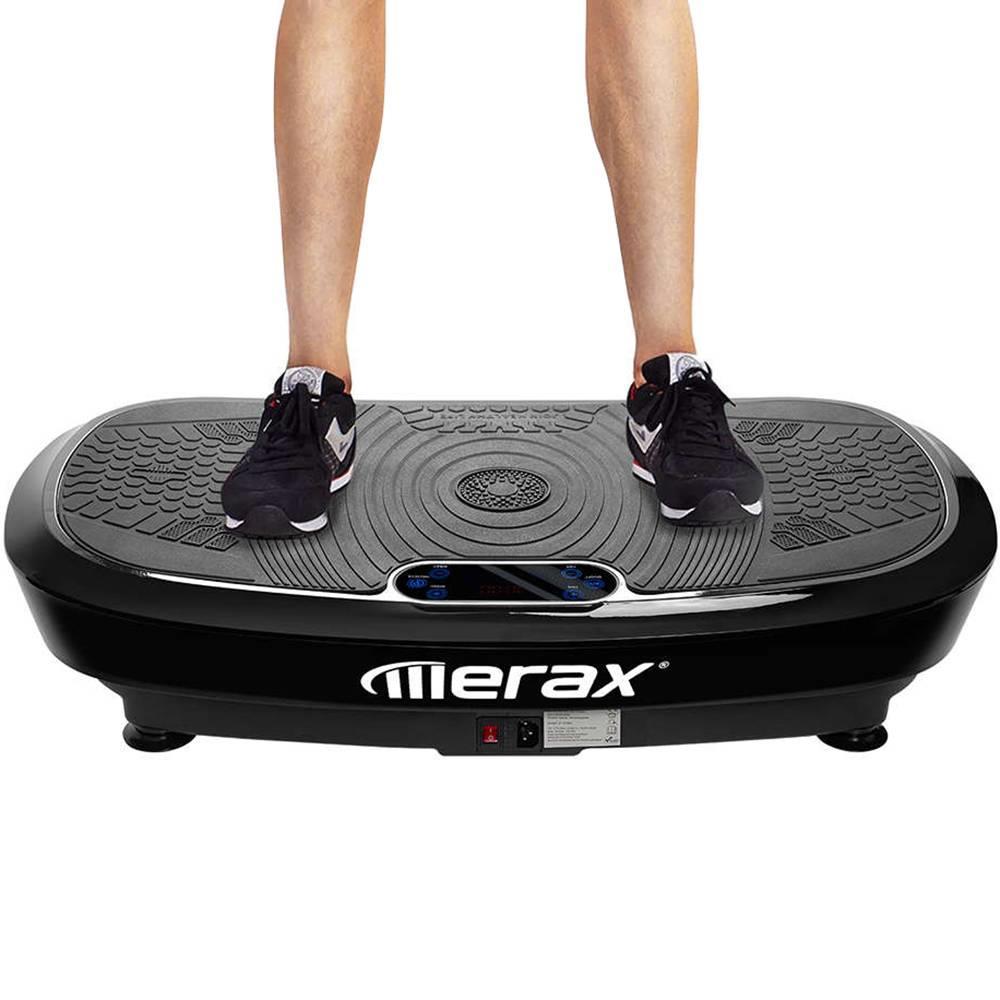 Πλάκα δόνησης Merax Επαγγελματική τεχνολογία δόνησης 3D Wipp 2 Ισχυρές μηχανές με ηχείο Bluetooth - μαύρο