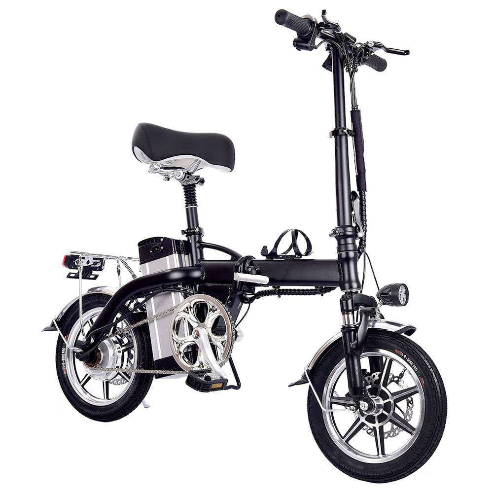 GYL004 Folding Moped Electric Bike 14 Inch Tire 350W Motor Max Speed 35km/h Up To 35km Range Dual Disc Brake - Black фото