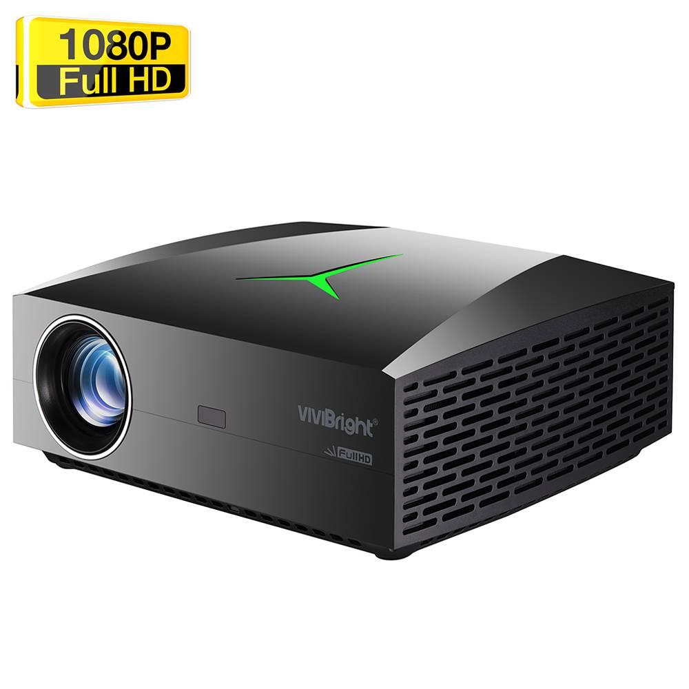 """VIVIBRIGHT F40 Родной 1080P светодиодный проектор 4200 люмен 300 """"Размер изображения 15000: 1 Коэффициент контрастности Hi-Fi стереодинамик HDMI SPDIF - черный"""