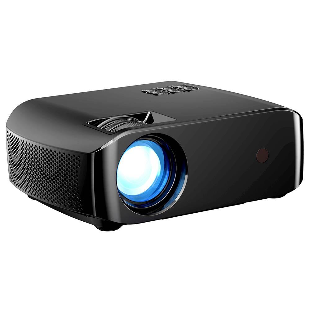 Светодиодный проектор VIVIBRIGHT F10 720P 2800 люмен 1080р Декодирование видео 15000: 1 Коэффициент контрастности 300 '' Размер изображения HiFi стереозвук 5000 часов Срок службы светодиодной лампы - черный