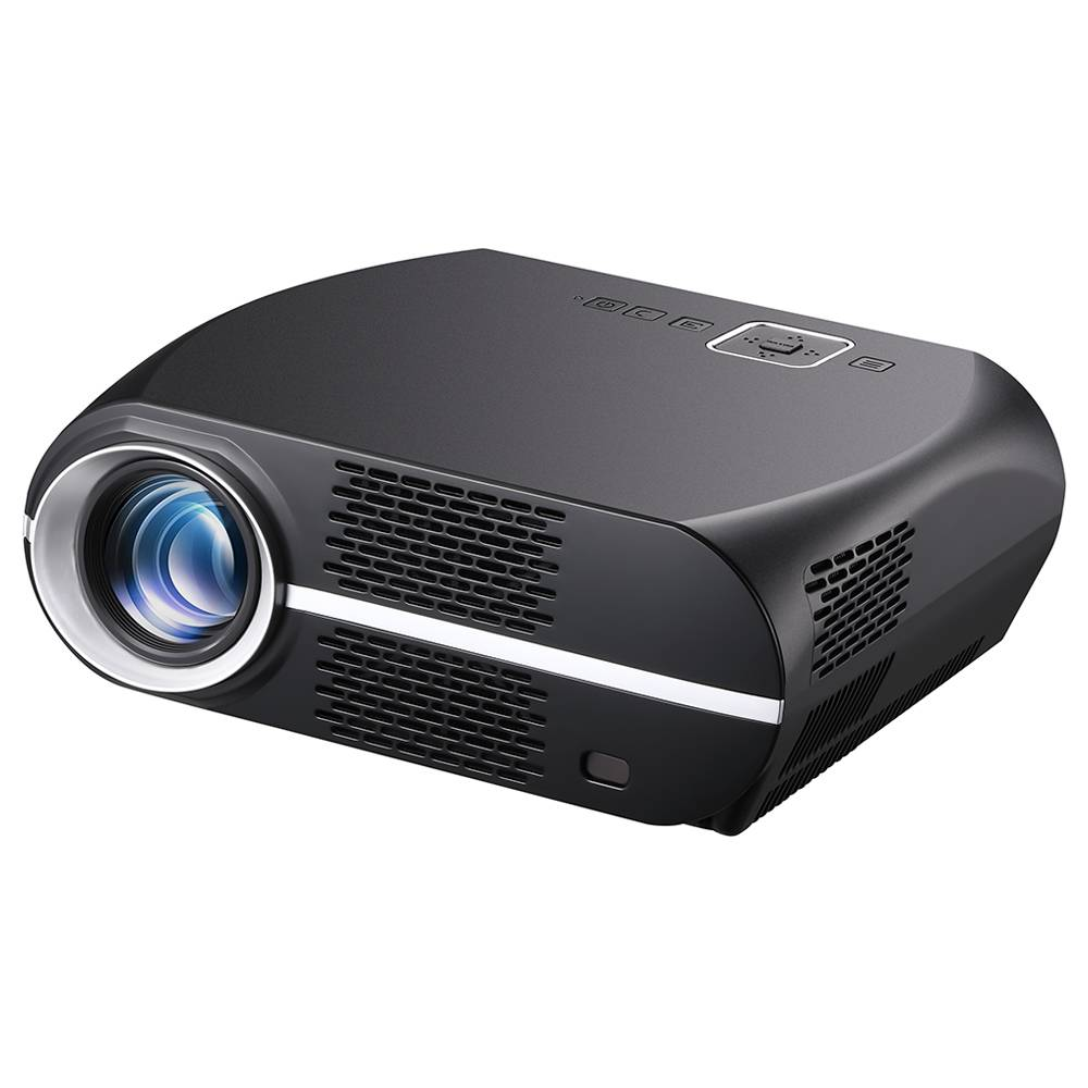 VIVIBRIGHT GP100UP 720P Android LED Projector 3500 Lumens 1080P Video Decode 3000: 1 Contrast Ratio 180 & # 39؛ & # 39؛ حجم الصورة مكبر صوت ستيريو هاي فاي - أسود