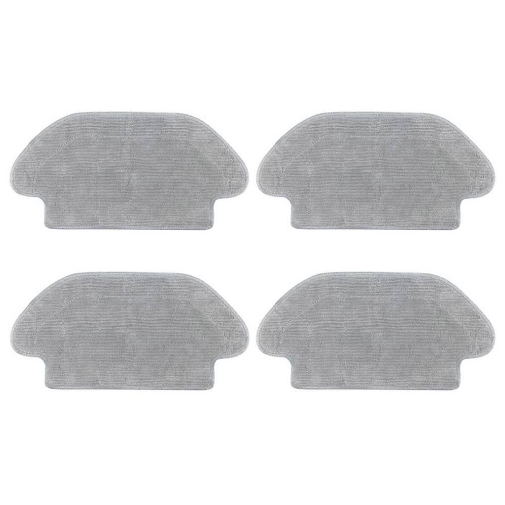 4 pièces de chiffons humides pour Xiaomi VIOMI V2 / V2 Pro / V3 / MI Robot aspirateur domestique - Gris