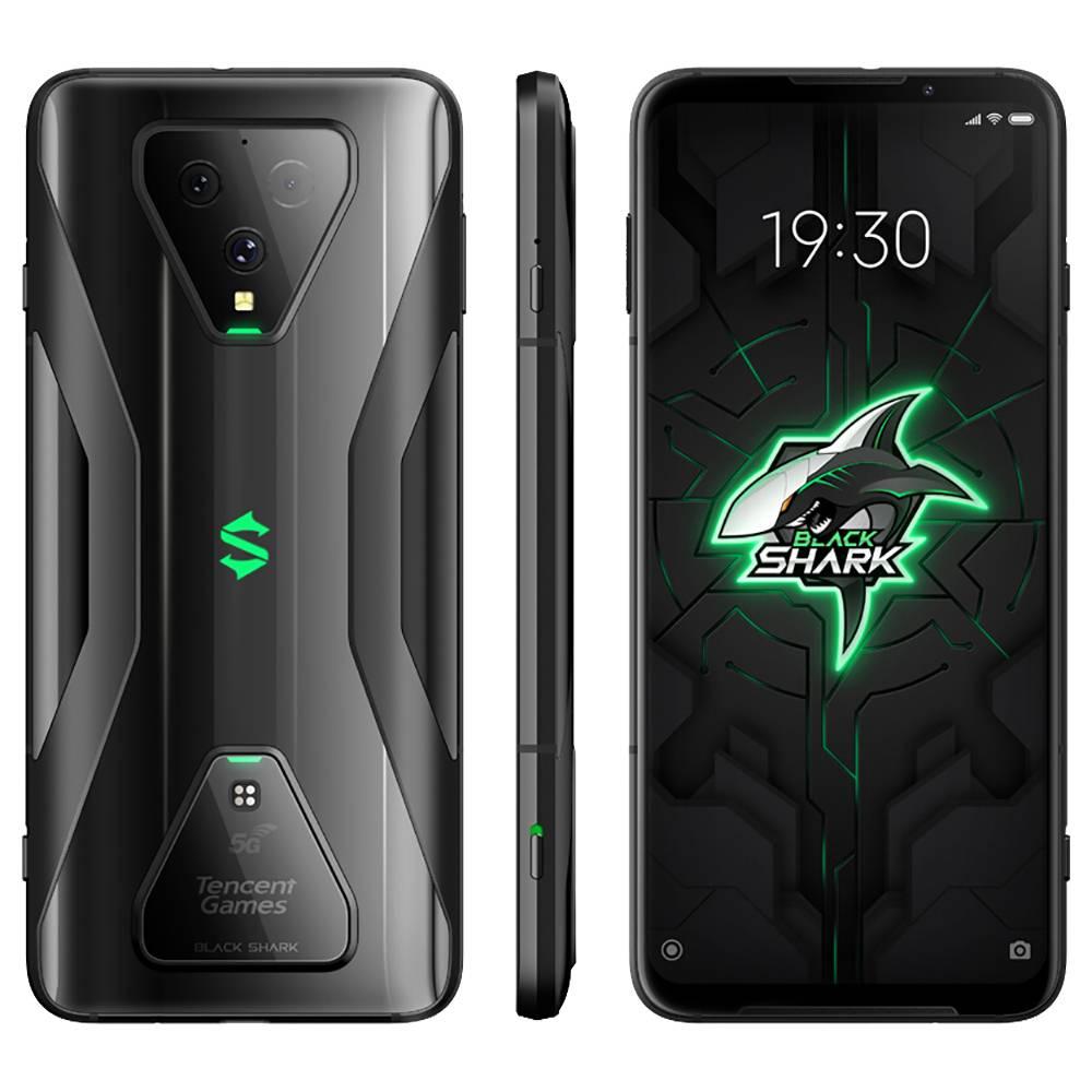 Xiaomi Black Shark 3 CN Version 5G Smartphone 6.67 Inch Screen Qualcomm Snapdragon 865 Octa-Core 12GB RAM 256GB ROM Triple Rear Camera 4720mAh Battery Dual SIM Dual Standby Android 10.0 - Black