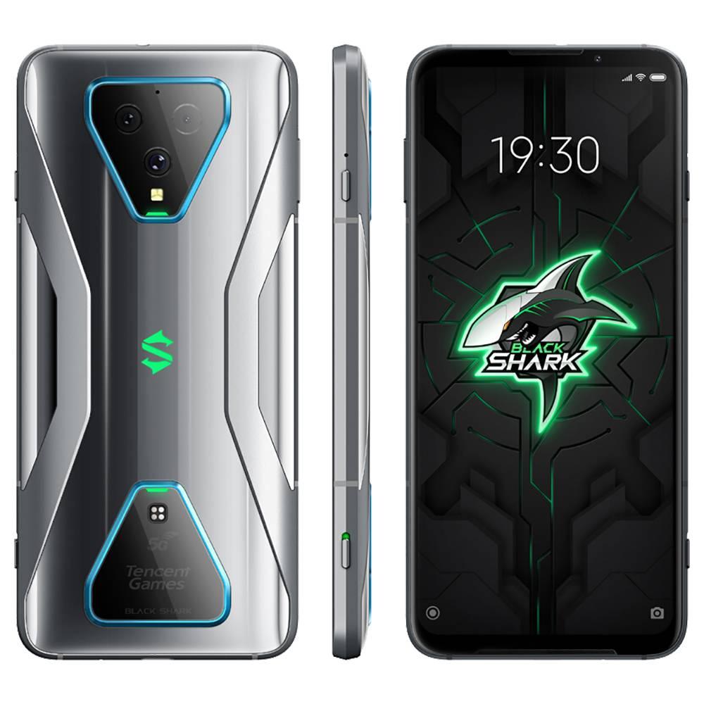 Xiaomi Black Shark 3 CN Version 5G Smartphone 6.67 Inch Screen Qualcomm Snapdragon 865 Octa-Core 12GB RAM 256GB ROM Triple Rear Camera 4720mAh Battery Dual SIM Dual Standby Android 10.0 - Grey