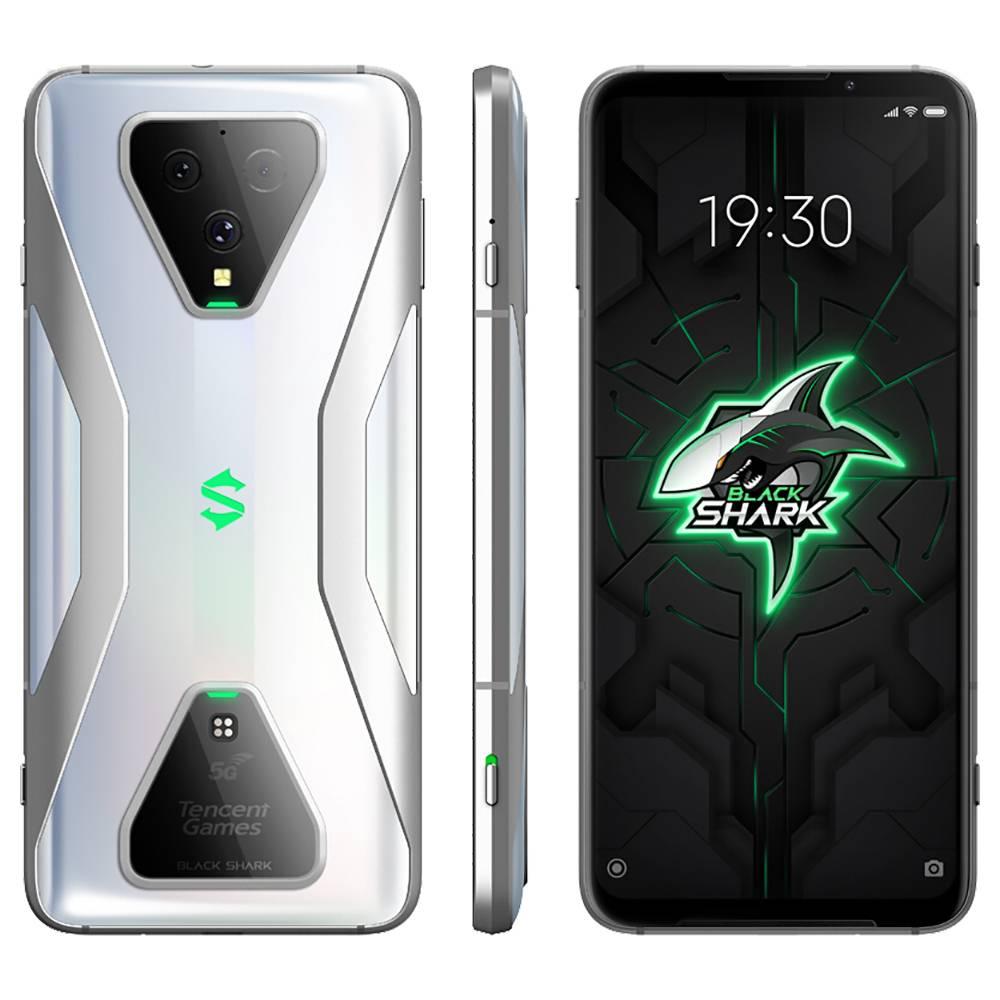Xiaomi Black Shark 3 CN Version 5G Smartphone 6.67 Inch Screen Qualcomm Snapdragon 865 Octa-Core 12GB RAM 128GB ROM Triple Rear Camera 4720mAh Battery Dual SIM Dual Standby Android 10.0 - Silver